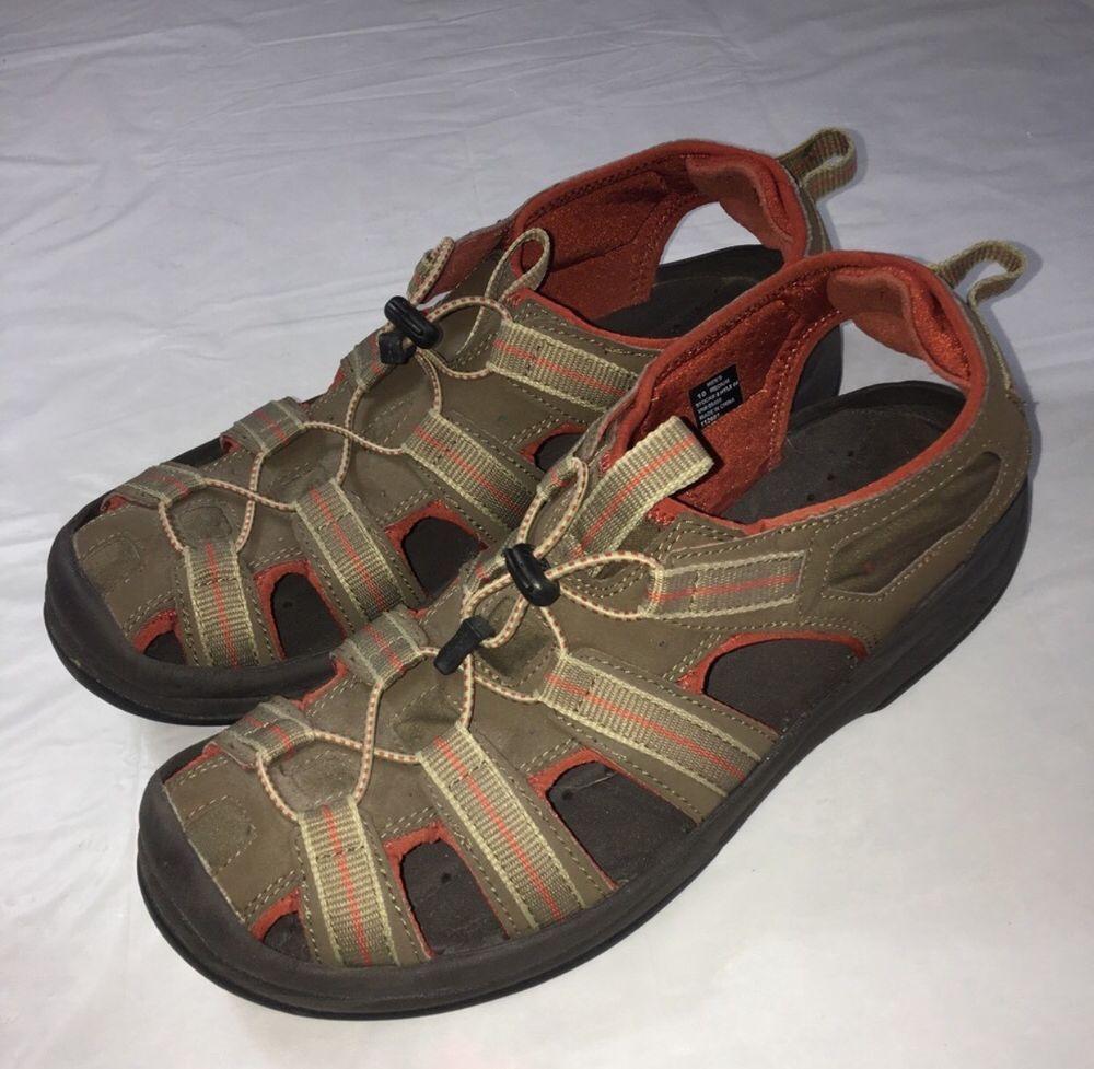 0514c0045212 LL Bean Mens Hiking Water Sports Sandals Size 10 Brown  LLBean ...