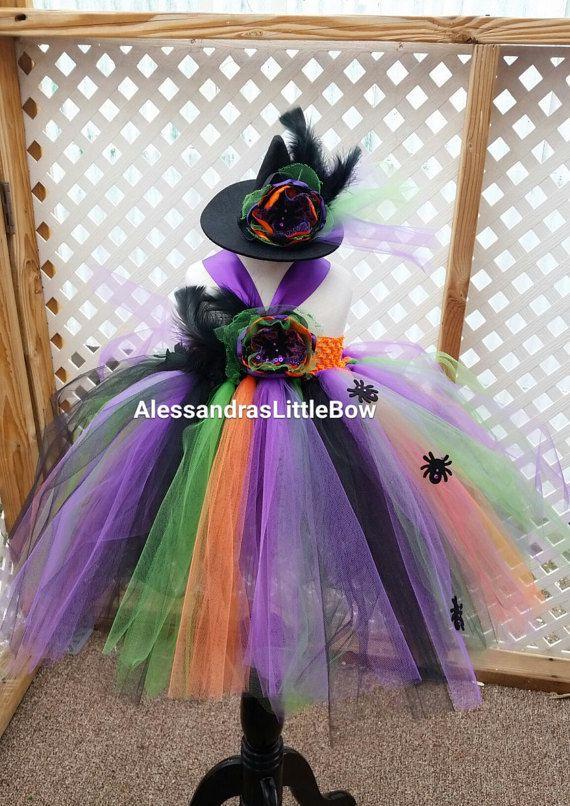 chicas de la bruja traje con sombrero de por