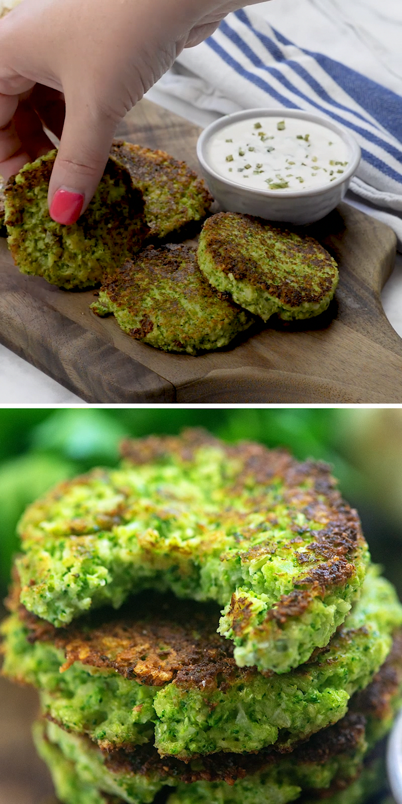 Broccoli Fritters - low carb + kid-friendly + supe