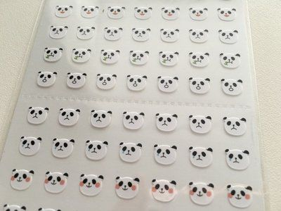 One Point Seal Stickers | Panda Bear