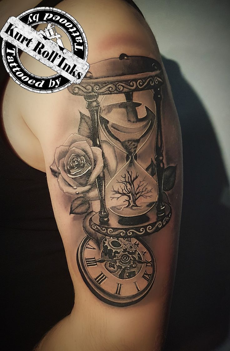 Photo of #eternalink #killerink #clocktattoo #hourglasstattoo #rosetattoo – New Ideas