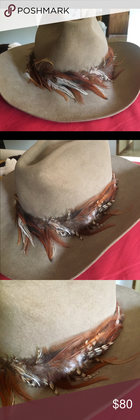 How to clean pheasant feathers - Stetson Cowboy Hat Stetson Cowboy Hat With Pheasant Feathers Interior Could Use A Light Clean