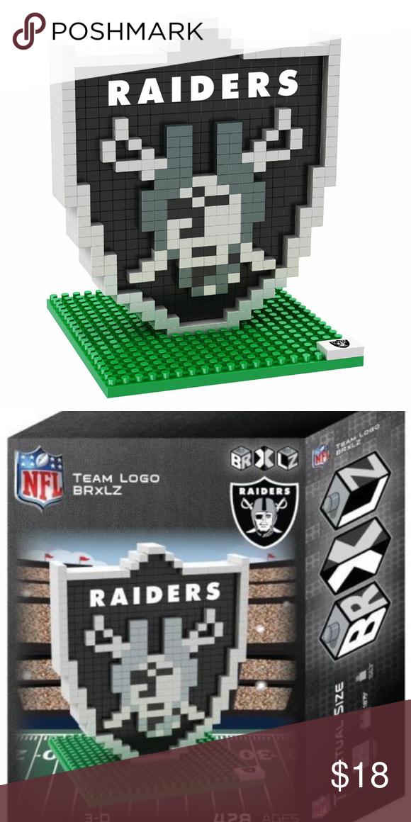 Oakland Raiders Nfl 3d Brxlz Team Logo Puzzle Nfl Teams Logos Team Logo Oakland Raiders
