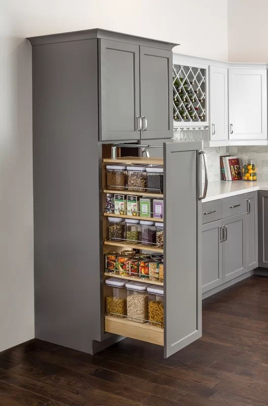 Hardware Resources Wood Cabinet Pull Out Pantry