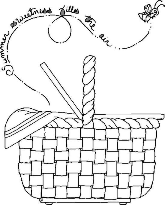 picnic basket coloring page coloring pages pinterest picnic