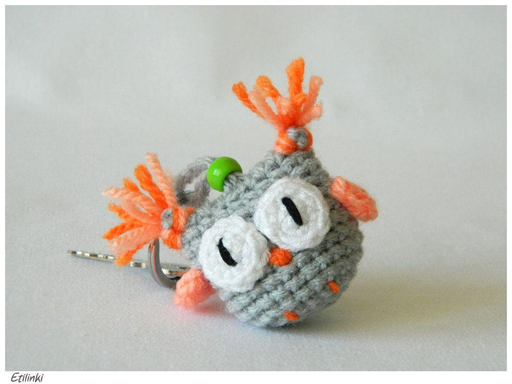 Amigurumi Crochet Owl Keychain, Amigurumi Eule Schlüsselanhänger ...