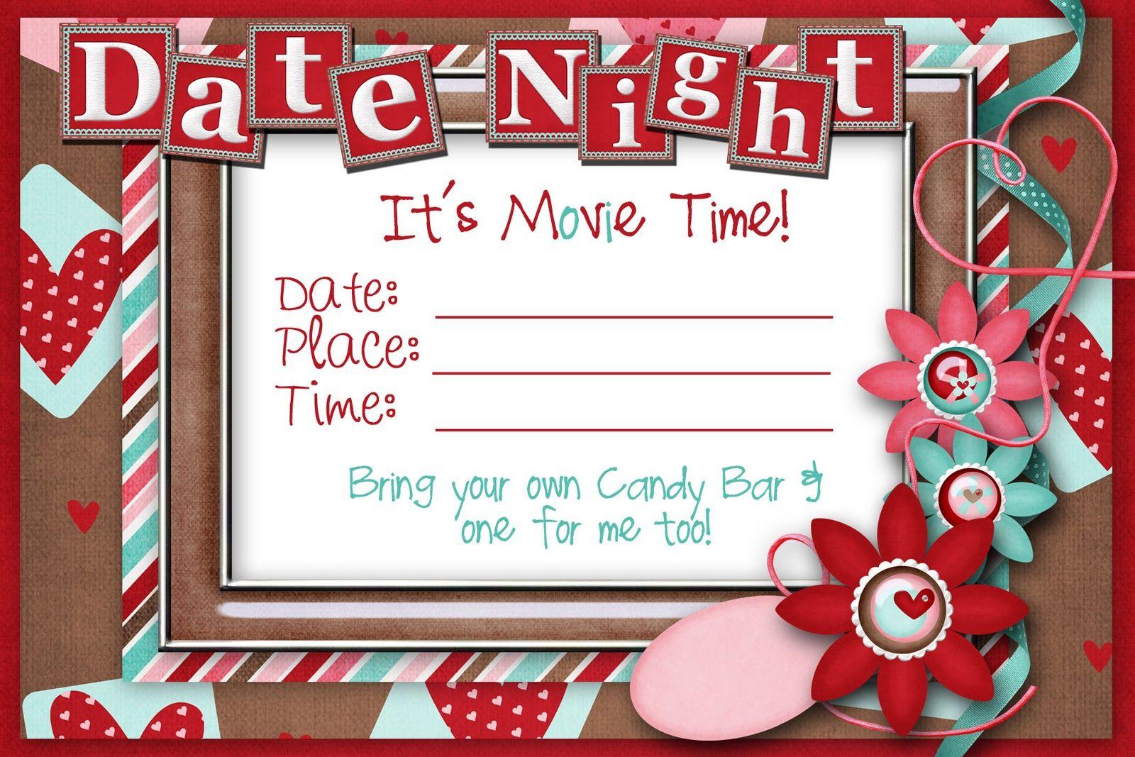 Printable Date Night Invitation Cute
