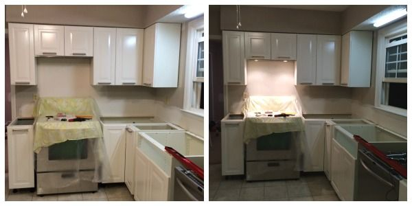 Left Ikea Eventuell Invisible Range Hood Right Range Hood With Lights On Living Room Remodel Room Remodeling Living Room Kitchen