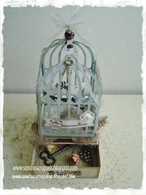 Sandra's Scrap Shop: # 3 Birdcage on box pattern / Birdcage on box template