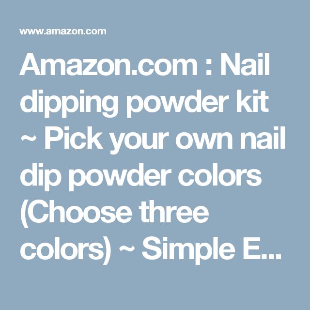 Amazon com : Nail dipping powder kit ~ Pick your own nail
