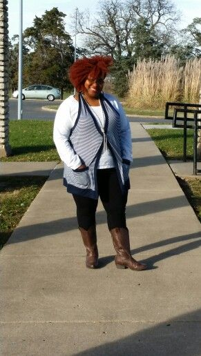 Casual fall with cowboy boots