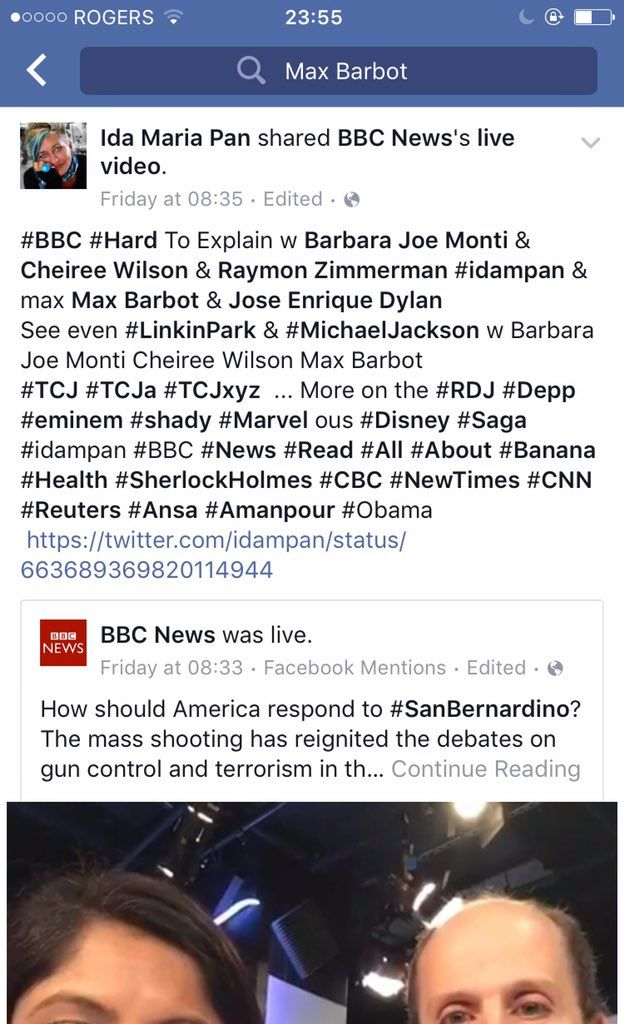 "Ida maria pan on Twitter: ""#press see FB #cheireeWilson #BarbaraJoeMonti #RaymondZimmerman = @onedirection @TheClash @bobdylan @U2 @PinkFloyd https://t.co/AfMj2H7xCk"""