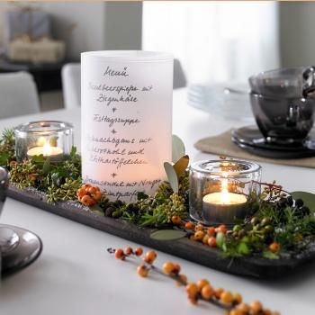 Menu Windlicht Decoration Pinterest Candles Decor Und