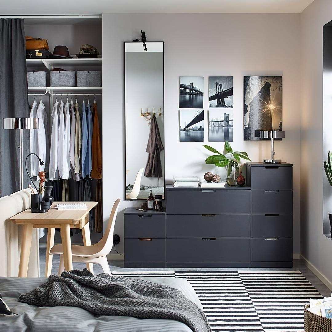 Ikea Uk Ikeauk On Instagram Now Available In Black Nordli Modular Drawers Are Designed To La Bedroom Furniture Mens Decor Interior
