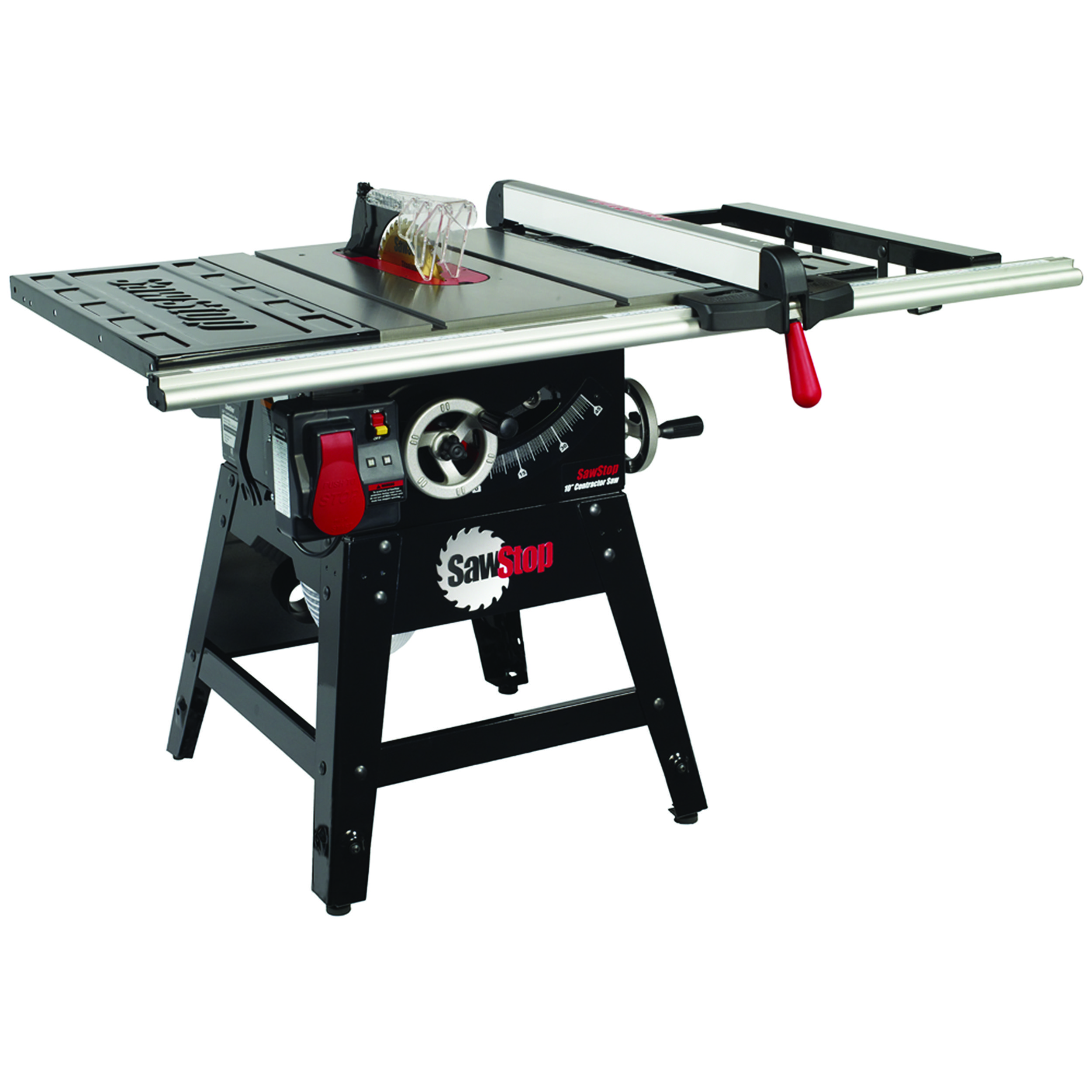 Contractor Saw With 30 Aluminum Extrusion Fence System Model Cns175 Sfa30 Used Woodworking Tools Contractor Table Saw Woodworking Saws