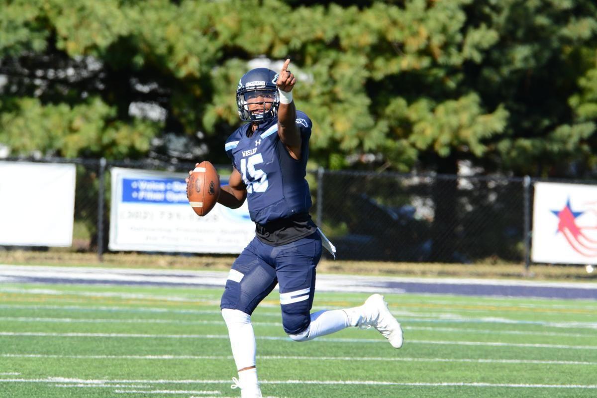 Wesley College Football >> Wesley College Crushes Delaware Valley 34 10 In Season