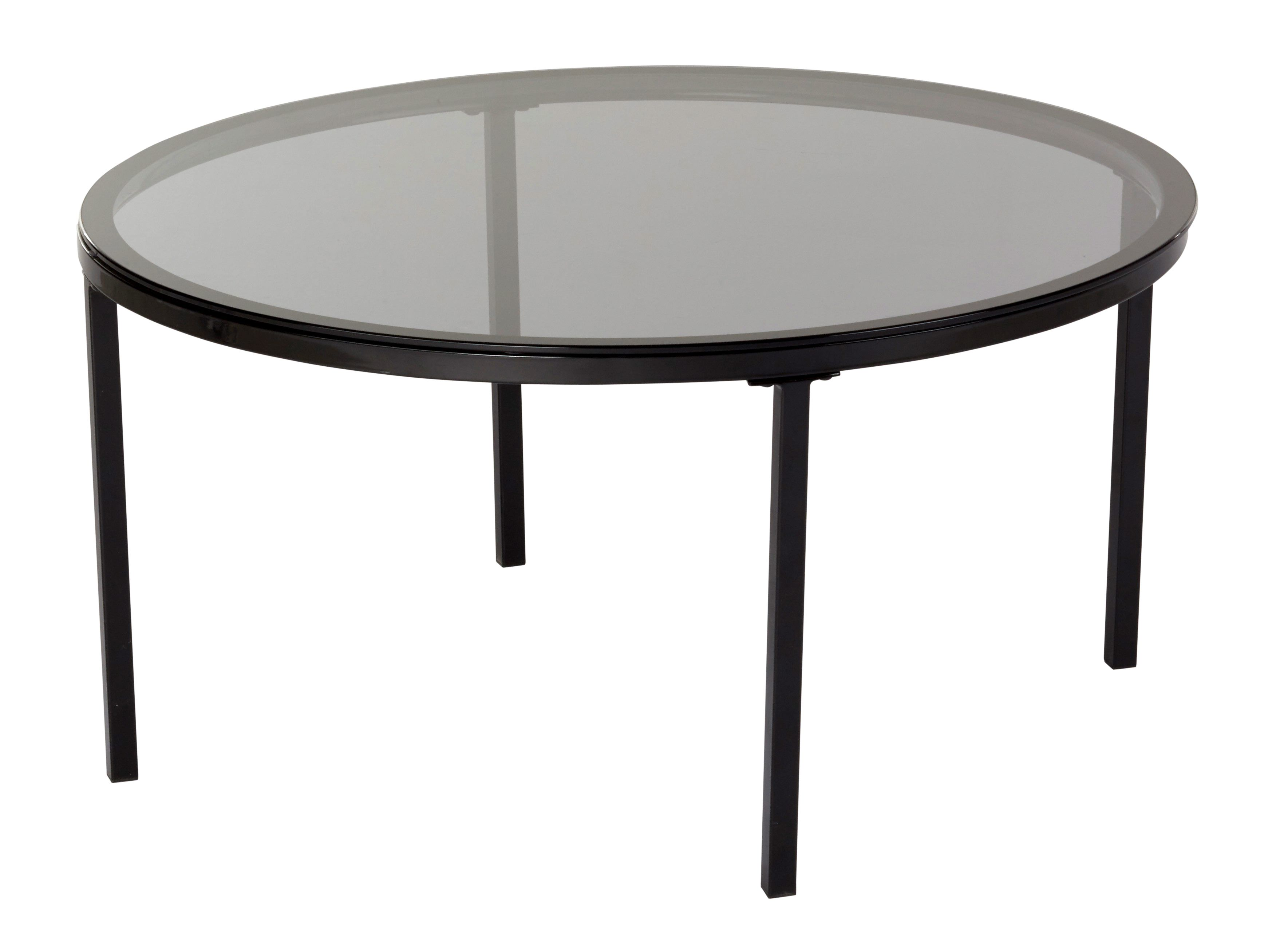 Table Basse Industrielle Ronde Claudia Verre Et Noir Table Basse Table Basse Noire Table Basse Industrielle