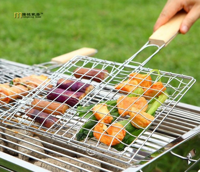 1Pc BBQ Tools Wood Copper Wire Grilled Cleaning Brush for Barbecue Accessor Home