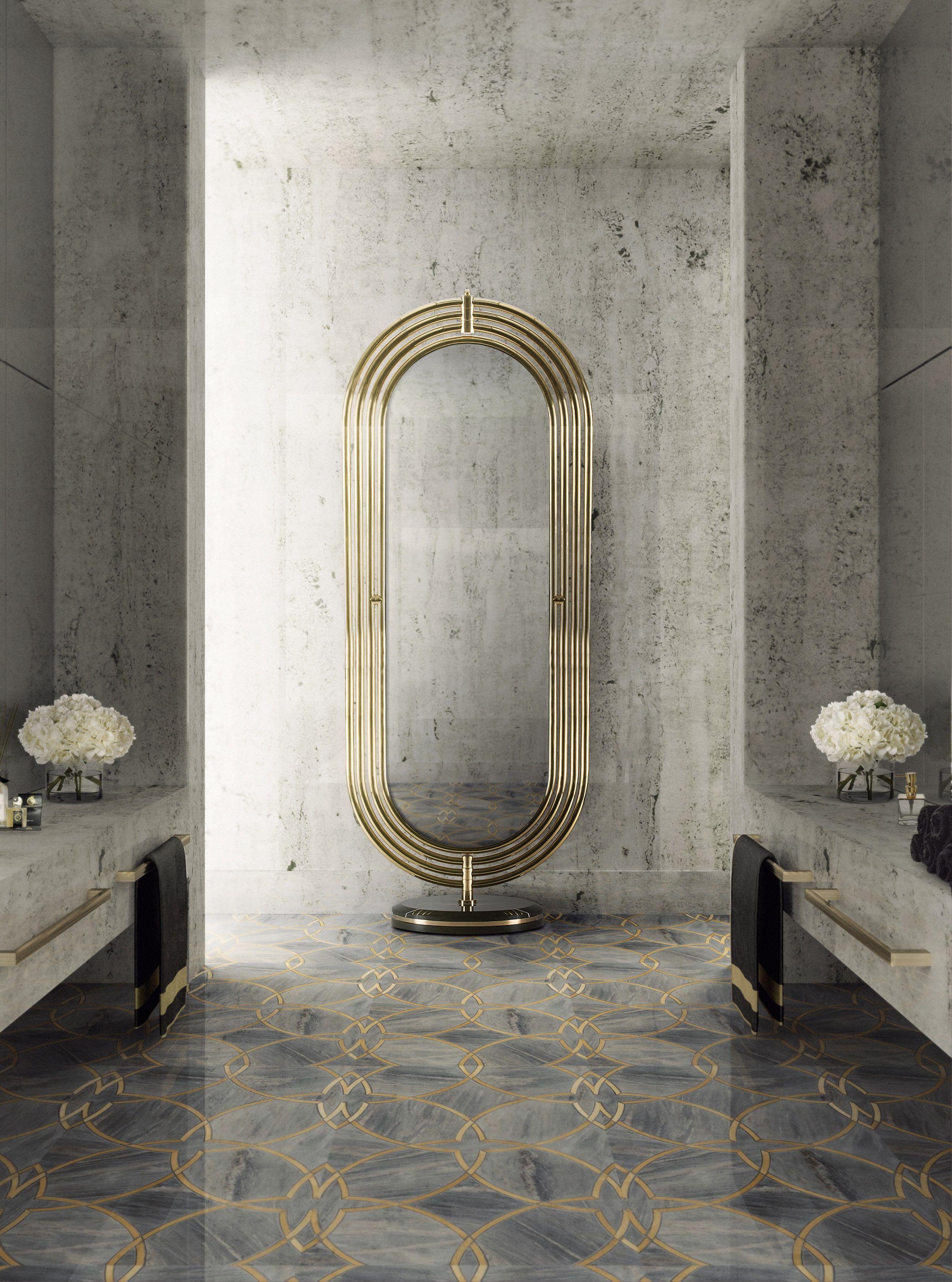 Colosseum Floor Mirror Maison Valentina Luxury Bathrooms Modern Luxury Bathroom Bathroom Design Luxury Modern Luxury