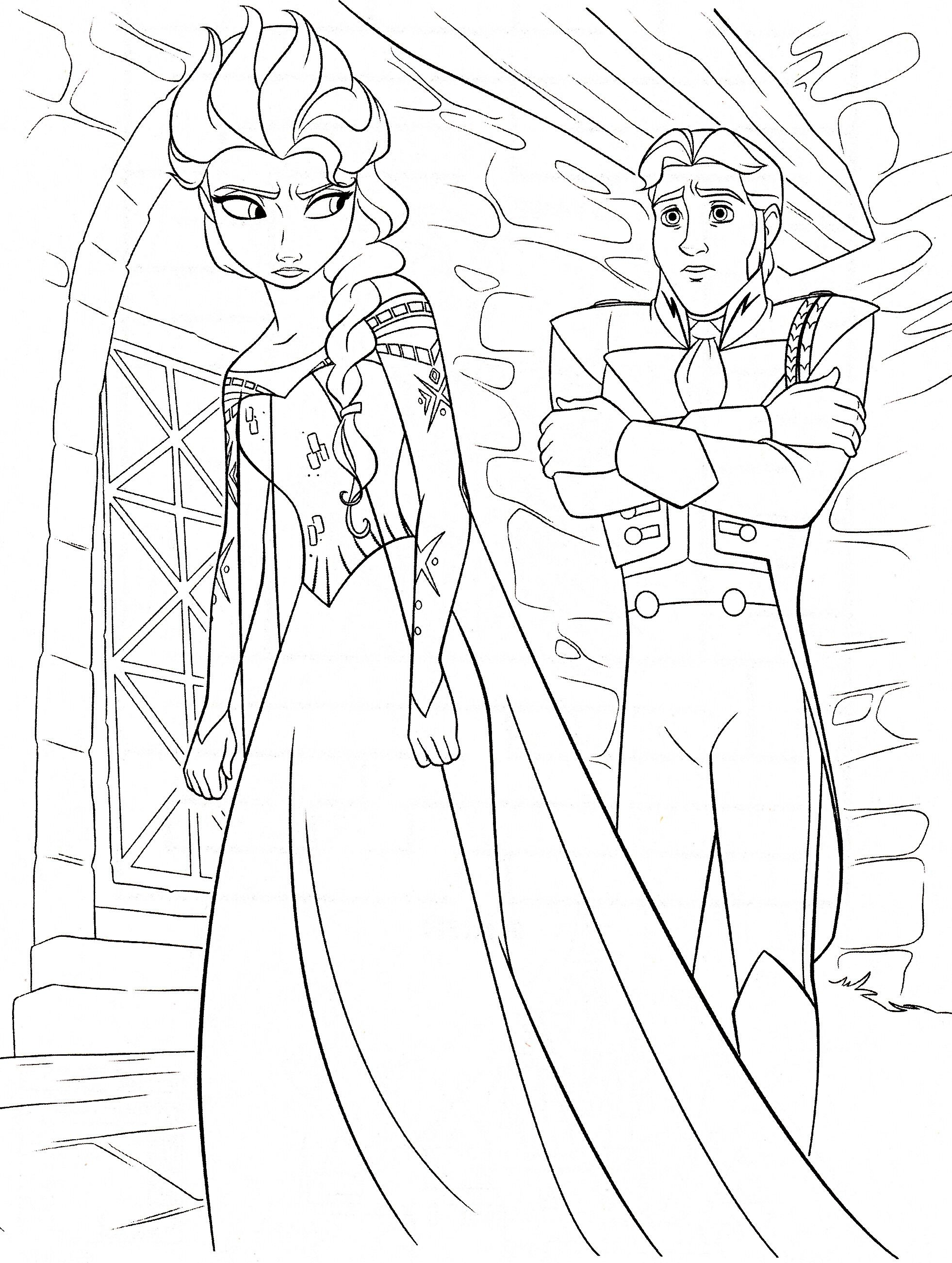 Kleurplaten Disney On Ice.Frozen Kleurplaten Elsa Hans Coloring Pages Frozen Coloring