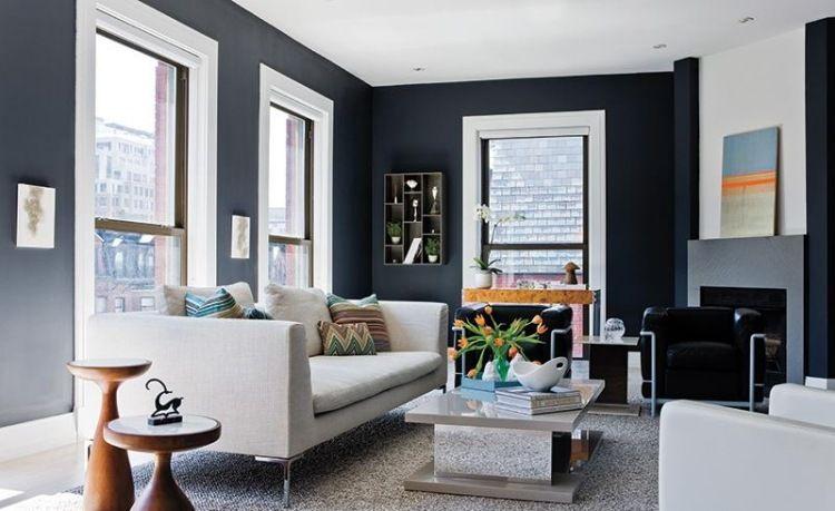 Peinture grise pour les murs du salon top idées en 27 photos - meilleure peinture pour plafond
