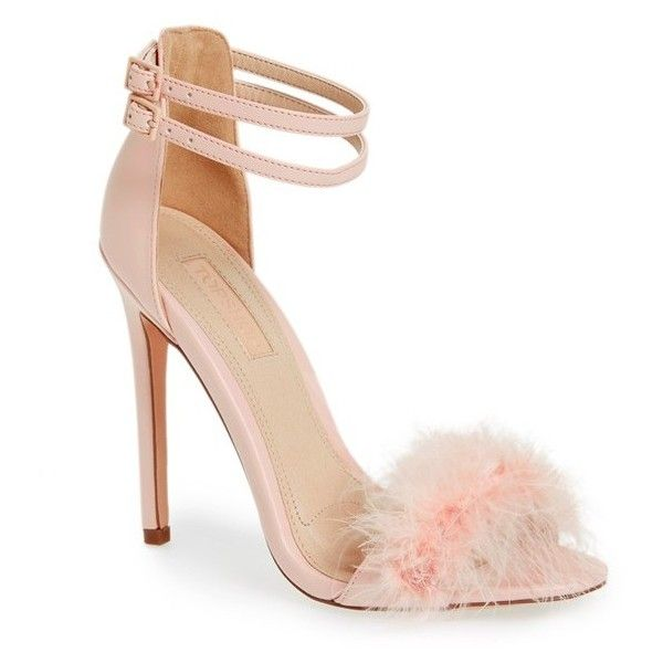 Women's Topshop 'Reese' Feather Sandal (2.180 CZK) ❤ liked on ...
