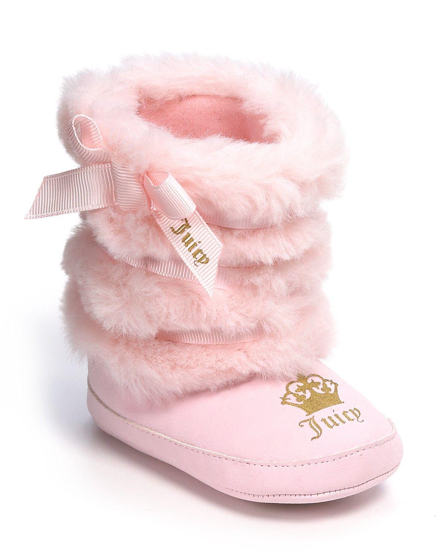 Juicy Couture Infant Girls Faux Fur Boots Sizes 3 12