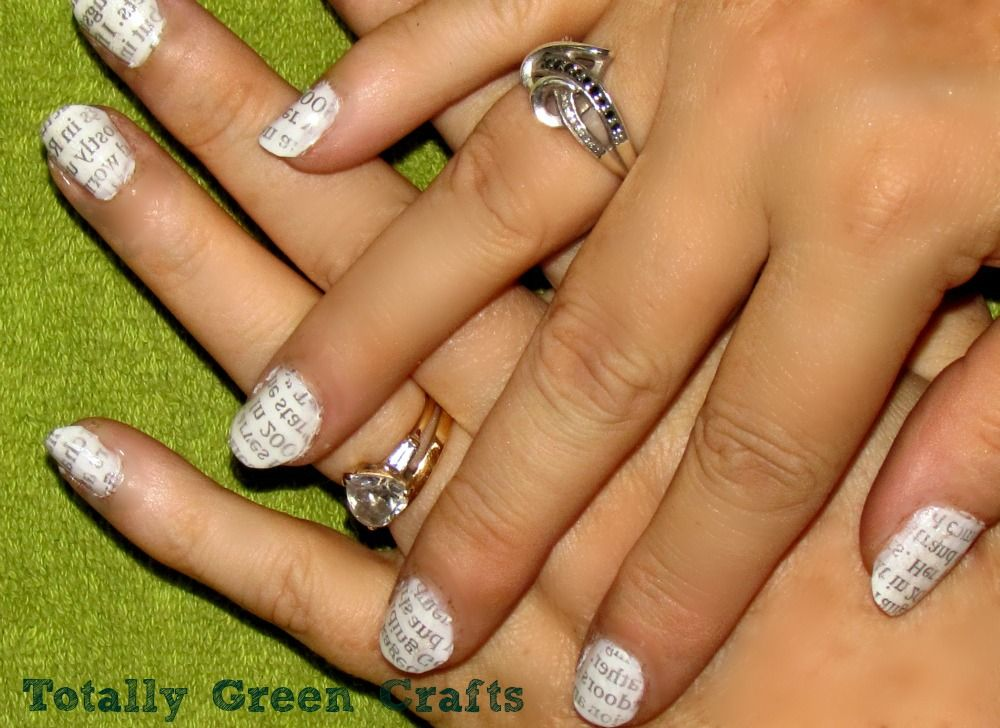 Newspaper Nails/Totally Green Crafts #recycle | DIY/Crafts and Life ...