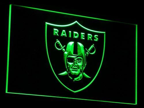 Oakland Raiders Fans Club 3D LED Neon Light Sign Rugby