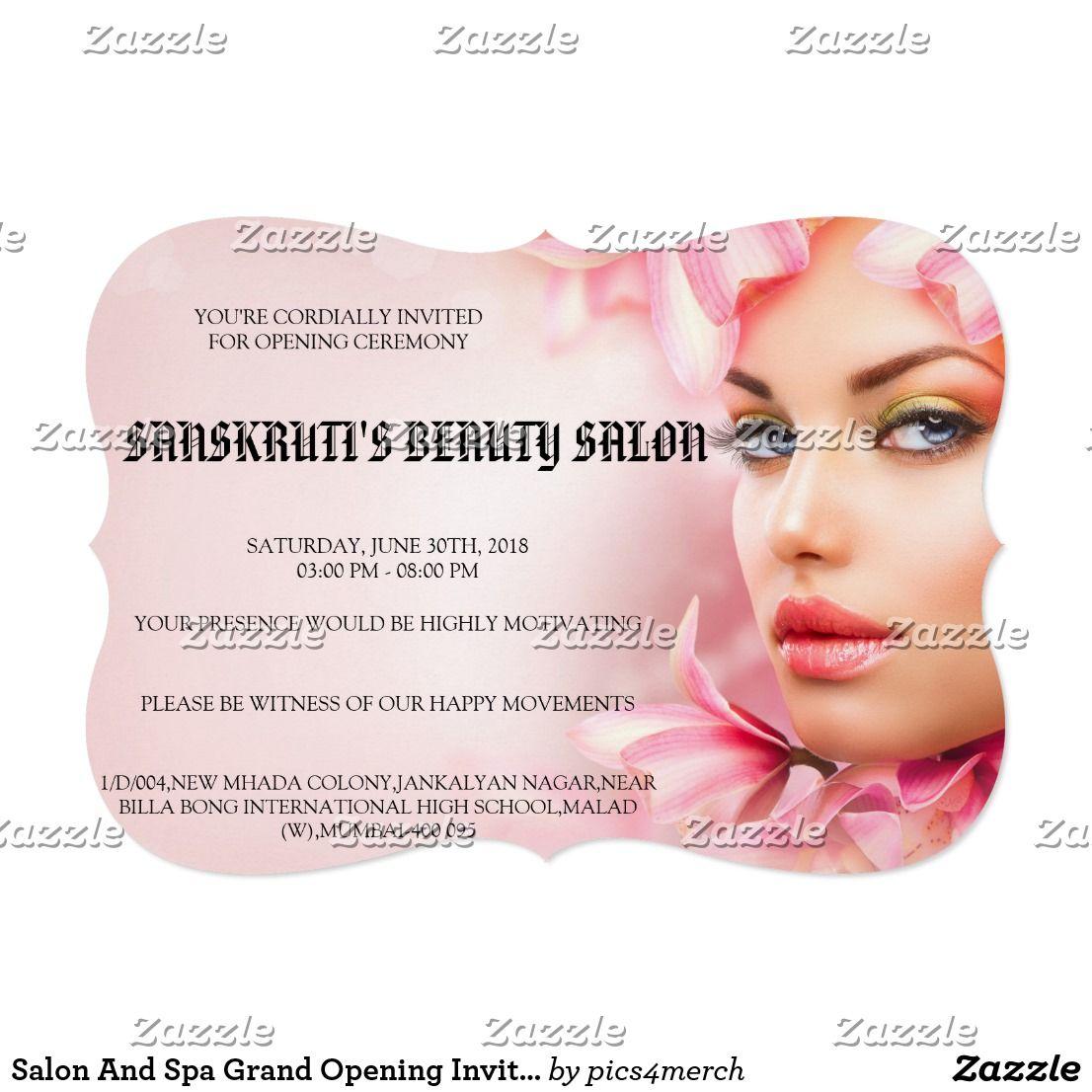 Create Your Own Invitation Zazzle Com In 2020 Grand Opening Invitations Invitations Create Your Own Invitations