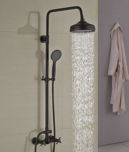 Douglas Oil Rubbed Bronze Wall Mounted Rainfall Showerset With