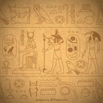 Fondo De Jerogl 237 Ficos Egipcios Dibujados A Mano Egyptian