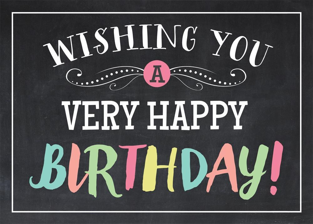 Happy Birthday Images Hombres ~ Chalkboard lights chalkboards birthdays and happy birthday