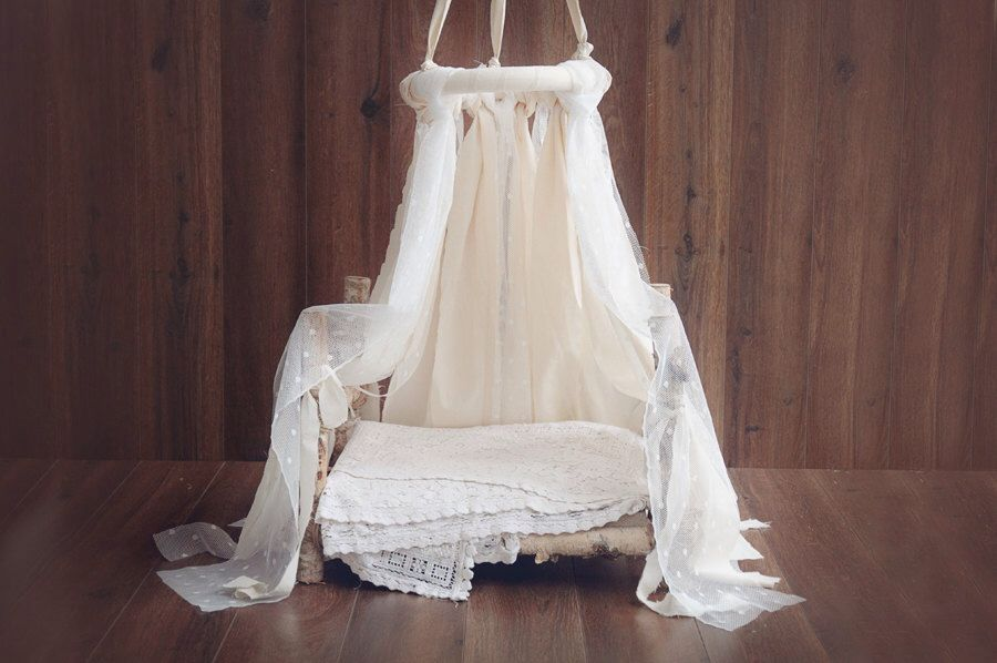 Canopy cotton and lace newborn canopy photo prop etsy