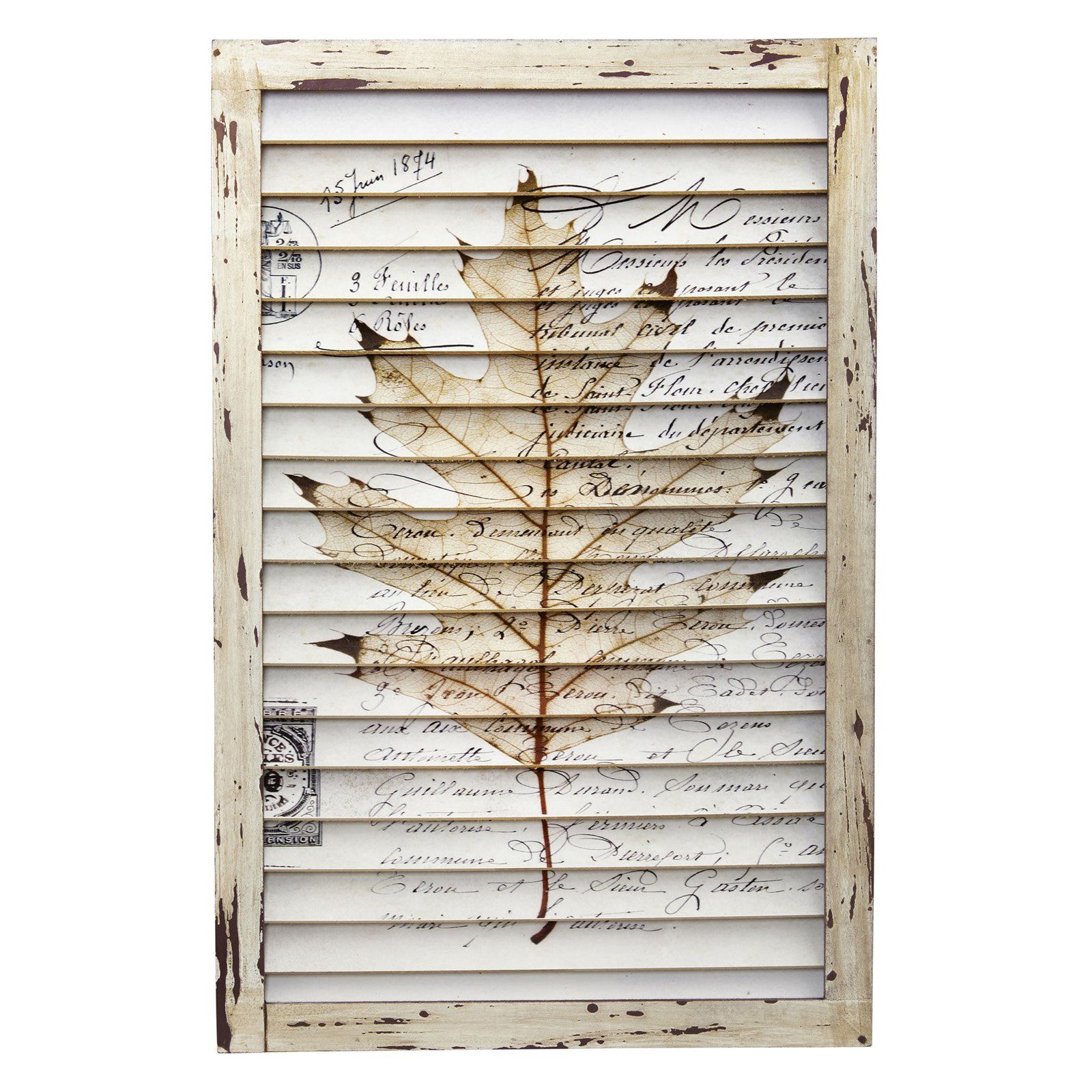 Nearly Natural Maple Leaf Window Shutter Wall Decor 7023 Products Shutter Wall Decor Wall Decor Shutter Wall