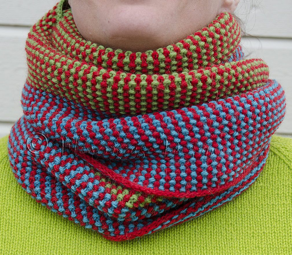 Free Knitting Pattern for Array Cowl - A simple slipped stitch ...