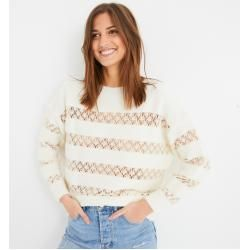 Photo of Promod Pullover mit Lochmuster Promod