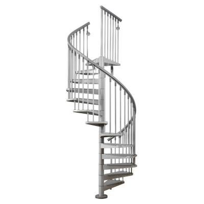 Best Arke Eureka 47 In Grey Spiral Stair Kit K21002 The Home 400 x 300