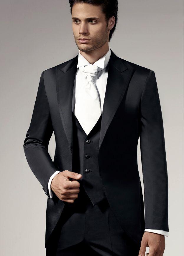 5d2ad0526da44b Super 140's Virgin Wool Black Tuxedo by Authentic Mantoni Vested Tuxedo  Shirt Bowtie | 2 Button Tuxedos | Tuxedo, Wedding Suits, Buy tuxedo