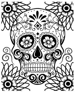 halloween sugar skull mit blumen in den augen :d   mushroom art, art, skull tattoo