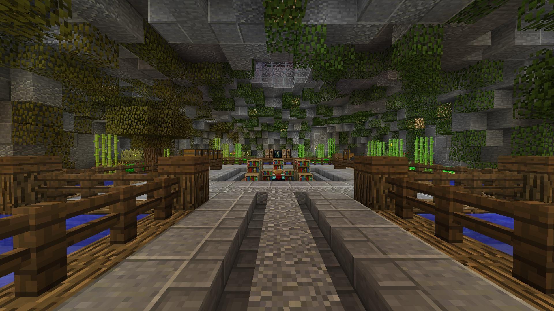Minecraft interior crafting enchanting