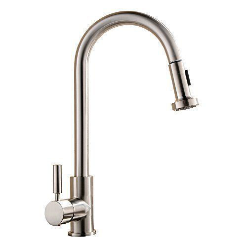 Commercial Faucets Kitchen Brushed Nickel Single Handle Pull Out