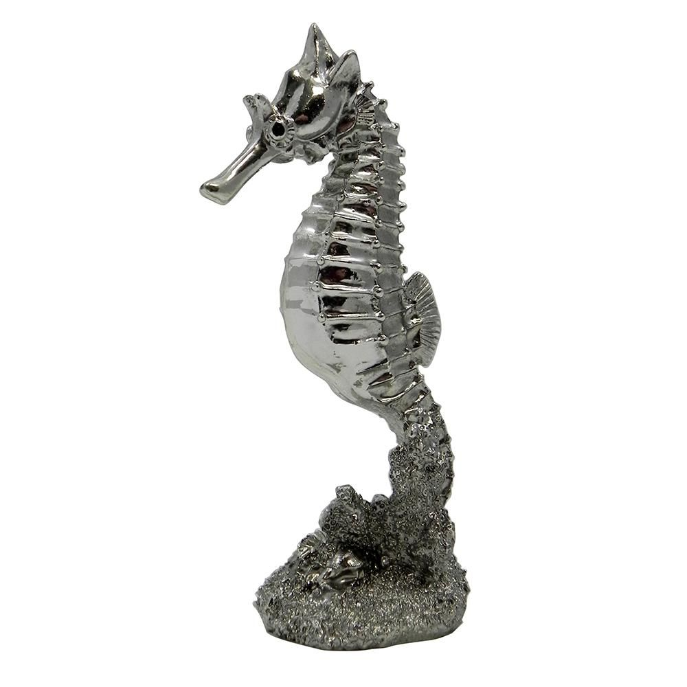 Silver Sea Horse Aquarium Ornament - Aquar Ornaments at Arcata Pet Supplies
