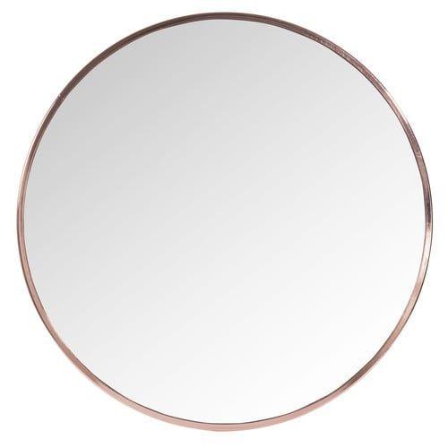 spiegel grazzia rund aus verkupfertem metall d 50 cm flur pinterest copper metal round. Black Bedroom Furniture Sets. Home Design Ideas