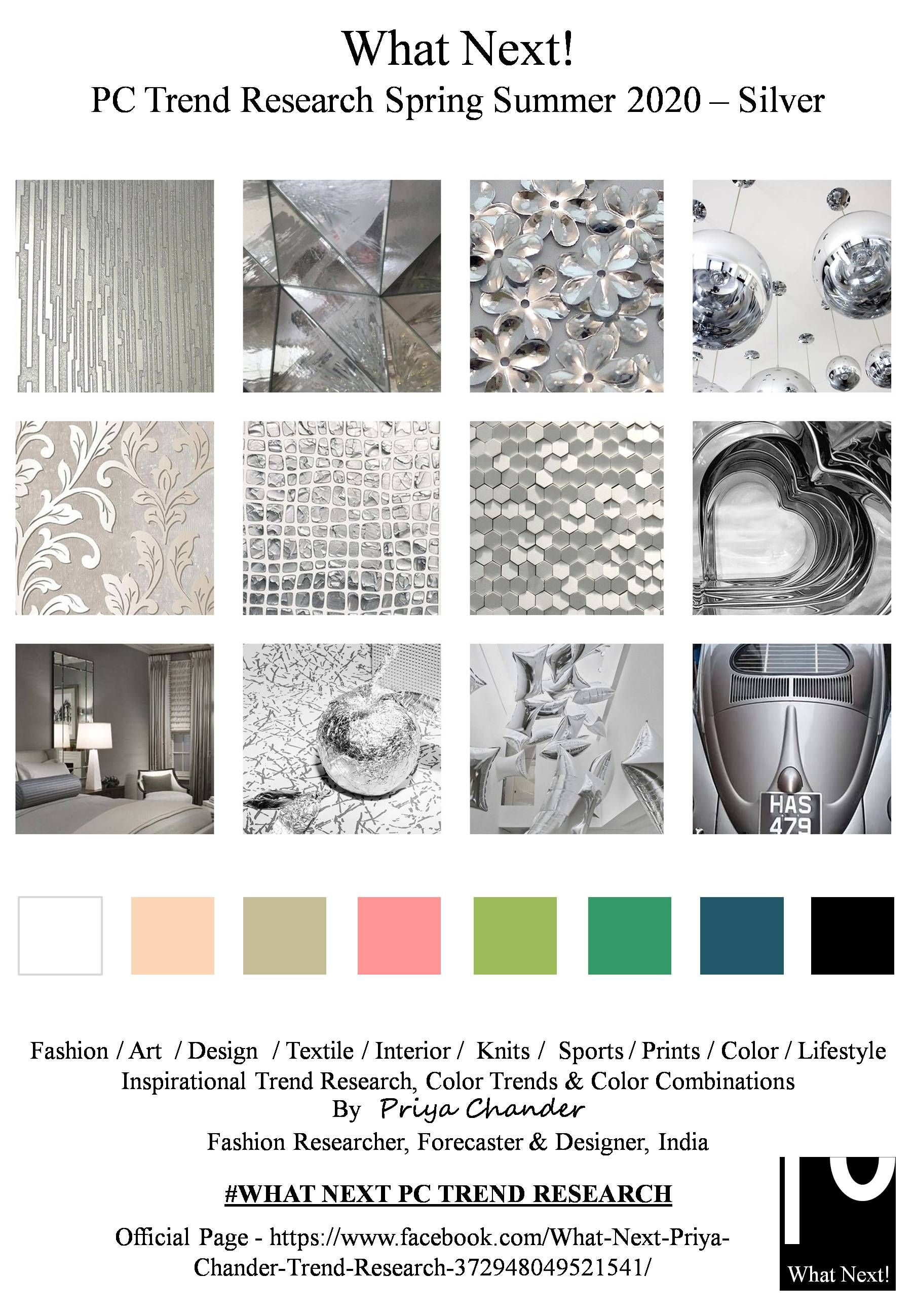 Christmas Color Trends 2020.Silver Ss2020 Fashion Forecasting Color Trends 2020