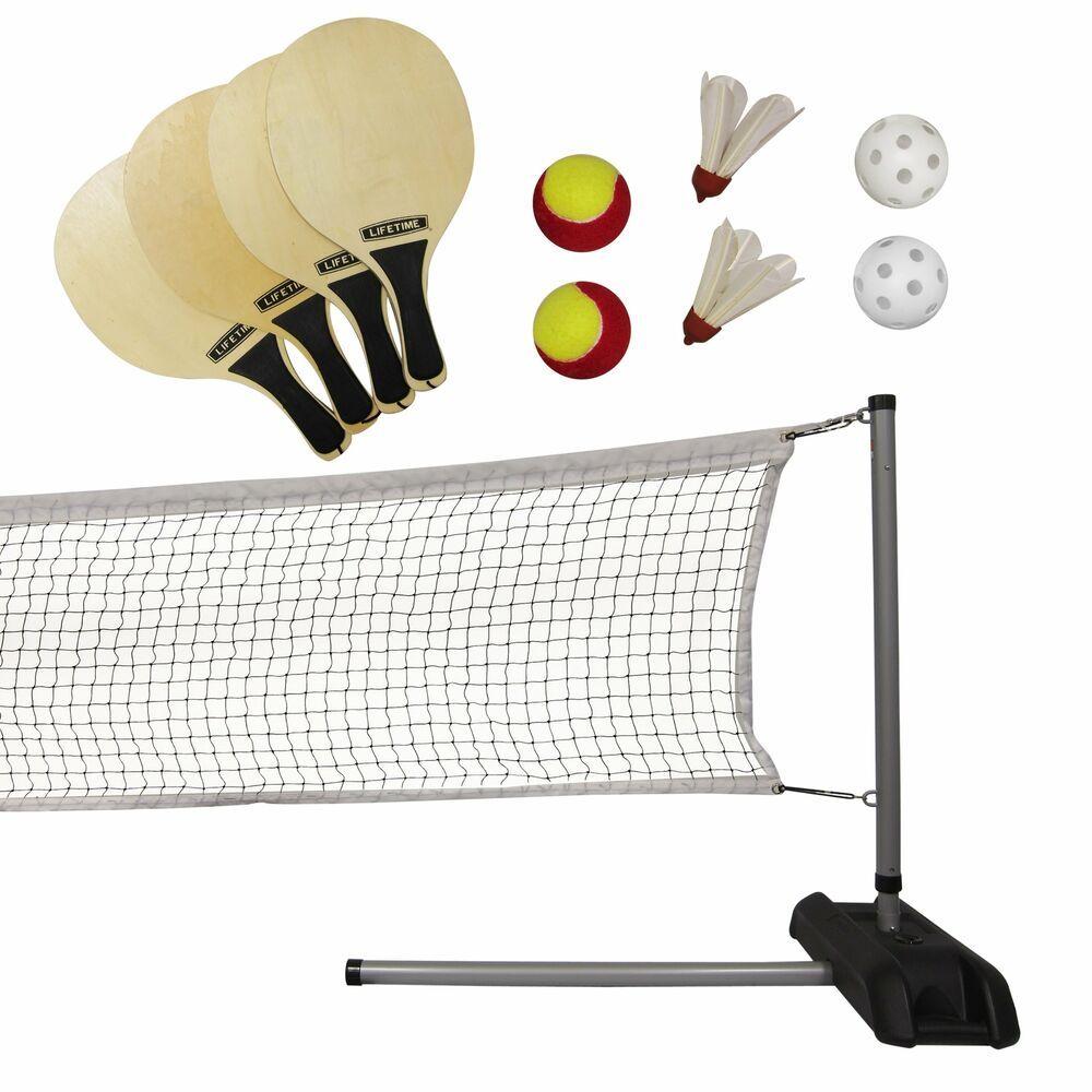 Advertisement Ebay Tennis Badminton Pickleball Quickstart Set 3 In 1 Game Sport Home Beach Set K Tennis Nets Badminton Badminton Set