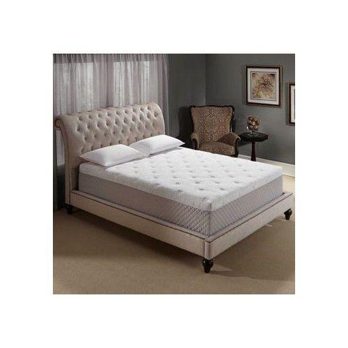 Novaform Serafina Gel Queen Bed Memory Foam Mattress Sleep