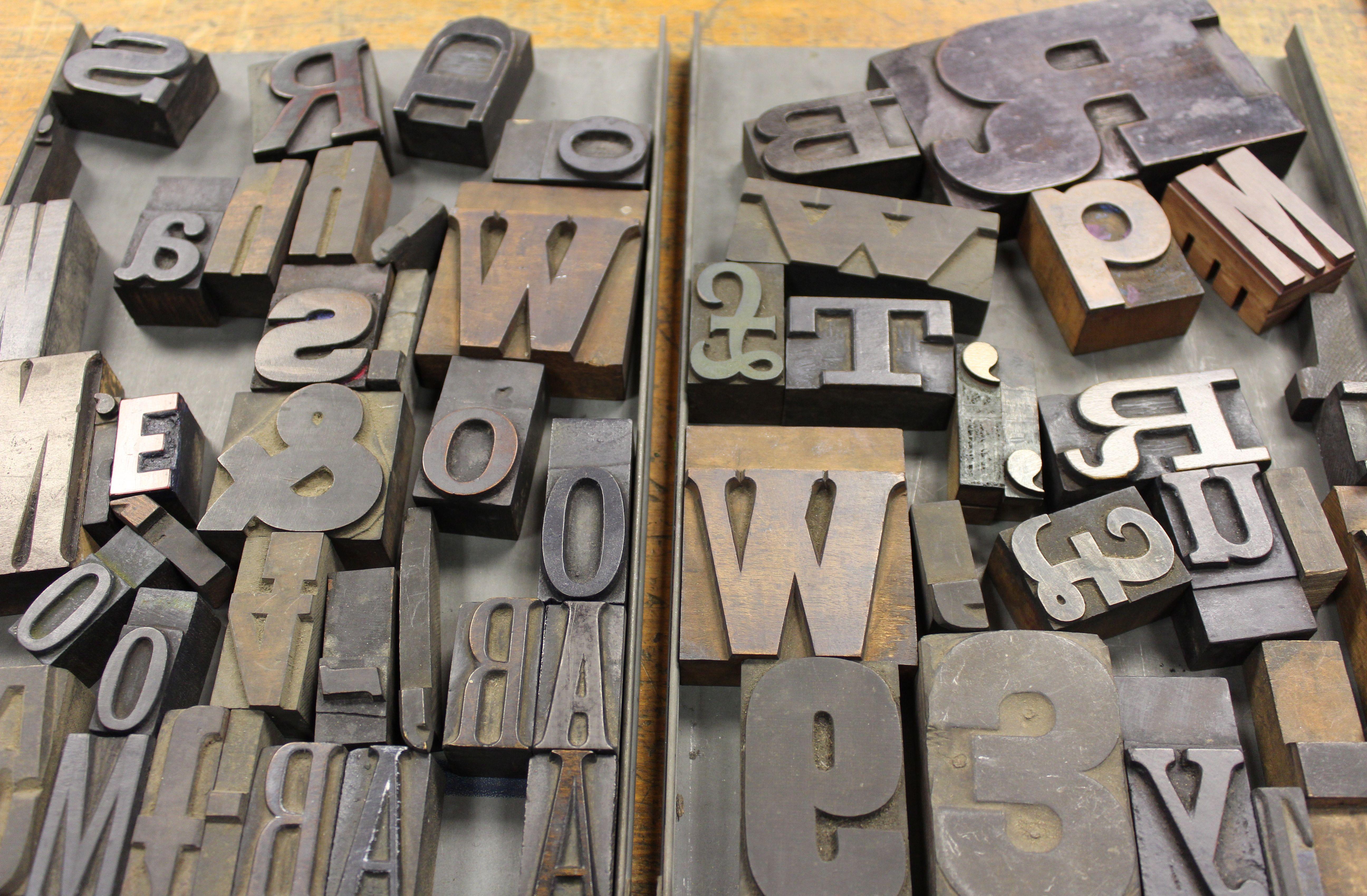 Letterpress, wood engraving