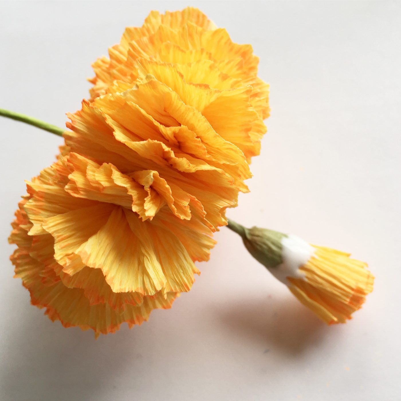 How To Make Marigold Paper Flower Crepe Paper Flowers Tutorial
