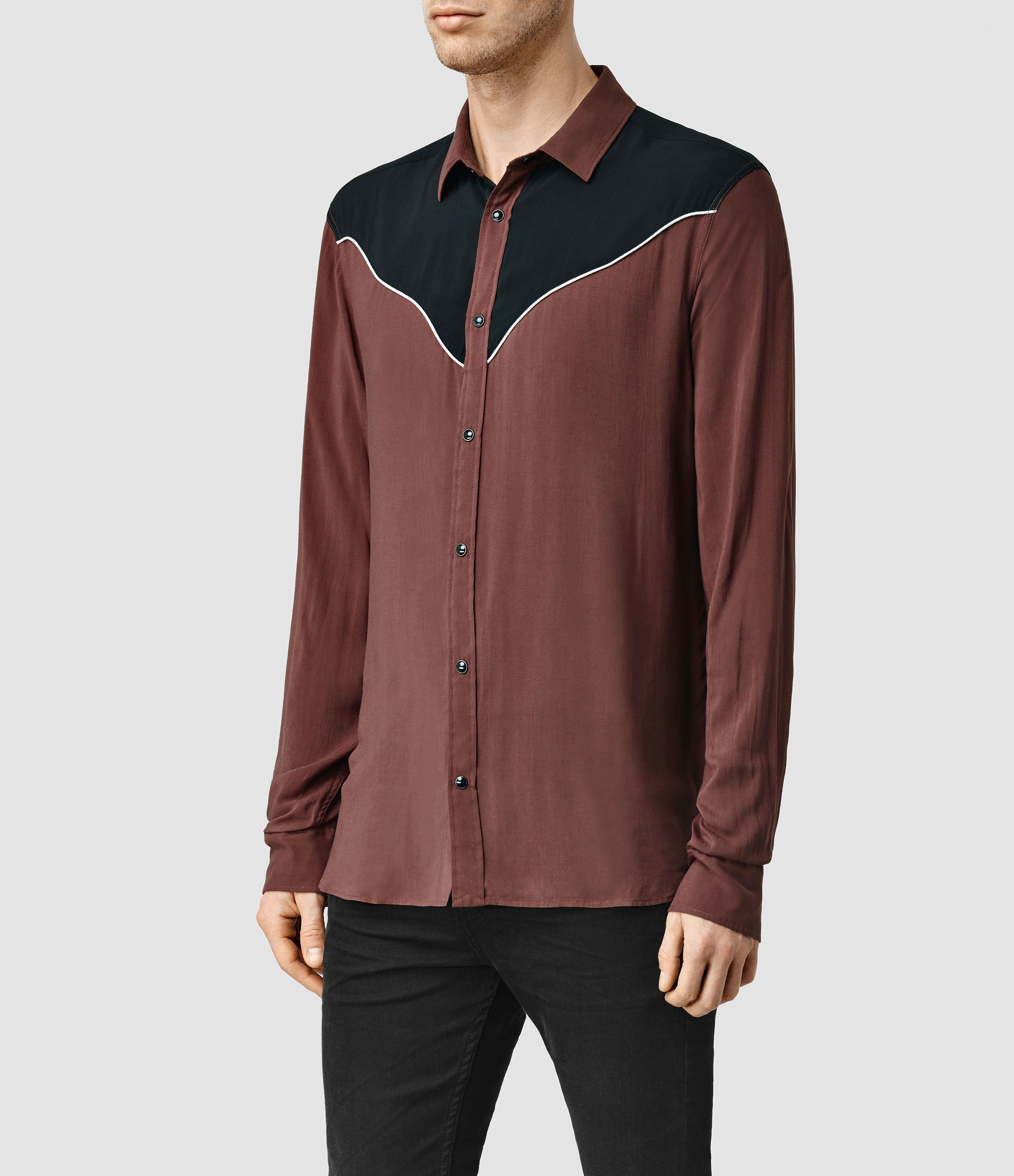 ALLSAINTS UK: Mens Catoosa Shirt (Black) | Men's Shirt | Pinterest ...